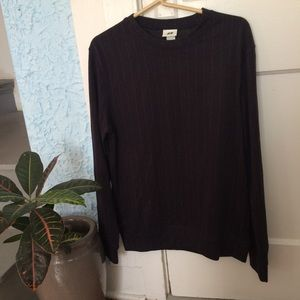 H&M | Men's Pinstripe Crewneck Sweater